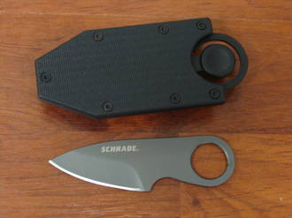 Schrade Pocket Money/Card Clip Full Tang Fixed Blade Knife