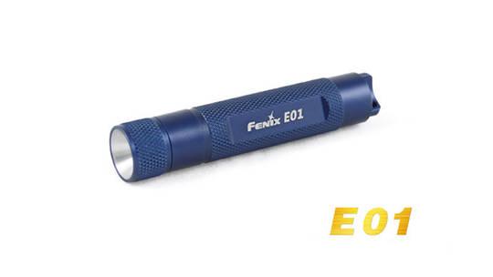 Fenix Mini Led Flashlight E01 Blue 2M Waterproof