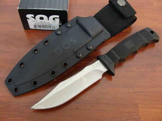 SOG Seal Pup Elite Satin Razor Knife w/ Kydex sheath