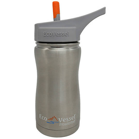 Eco Vessel Frost Triple Insulated Bottle w/Spout, Silver Express, 13 oz