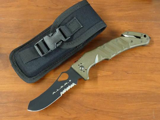 Fox Knives A.L.S.R. Linerlock Rescue Folding Knife OD Green