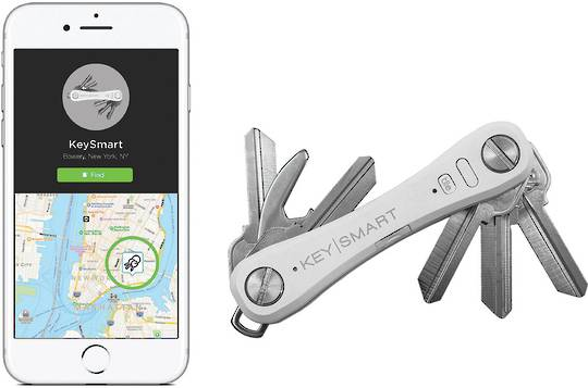 KeySmart Pro With Tile Smart Location White