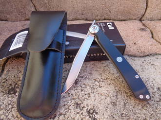 "Kershaw Personal Folding Steak Knife "" with Leather Sheath"