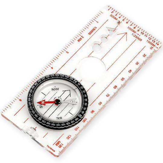 Ndur Map Clear Acrylic Base Compass with Ruler - Large - 51530 no packaging