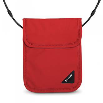 Pacsafe Coversafe X75 - anti-theft RFID blocking neck pouch Chilli