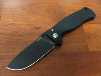 LionSteel SR-1A BB Folding Knife  D2 Steel Blade, Black Aluminum Handle