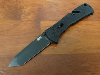SOG Mini Trident A/O Black Tanto Folding Knife TF-27 - No Box