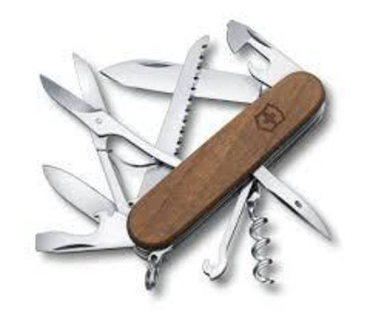 Victorinox Huntsman Swiss Army Knife - Wood