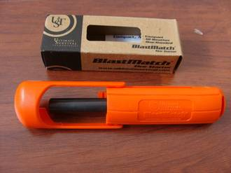 Ultimate Survival Blastmatch Fire Starter - Orange or Black