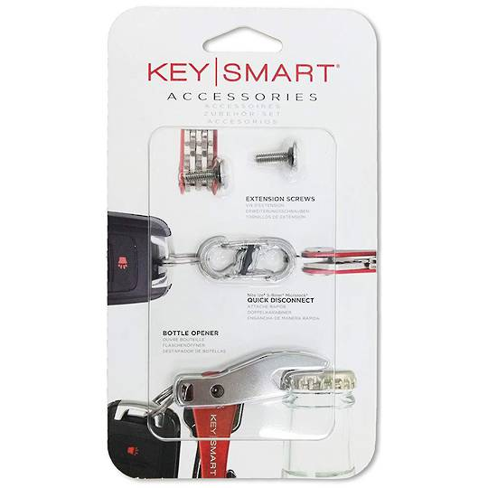 KeySmart Accessories Extension screws, Quick Disconnect Carabiner, Bottle Opener