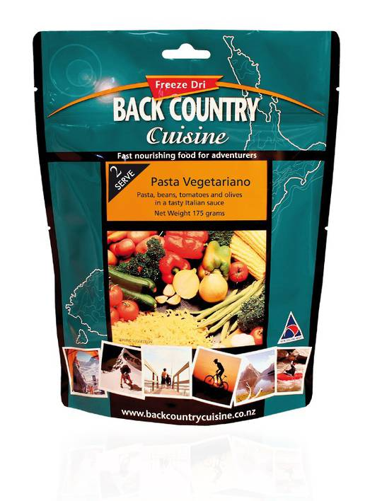 Back Country Cuisine Pasta Vegetariano 2 Serve