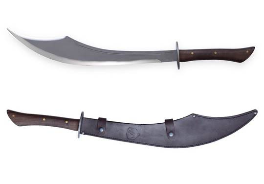 Condor Sinbad Scimitar Sword Carbon Steel Blade, Hardwood Handles, Leather Sheath