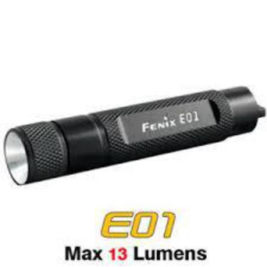 Fenix Mini Led Flashlight E01 Black 2M Waterproof