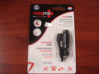 ResQMe Keychain Rescue Emergency Tool-  Black