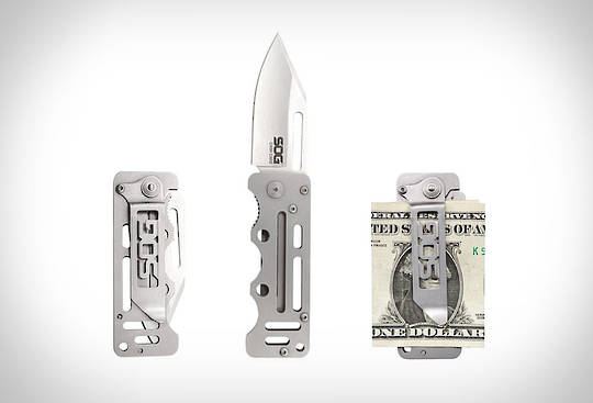 SOG CashCard Folding Credit card / Money Clip Knife