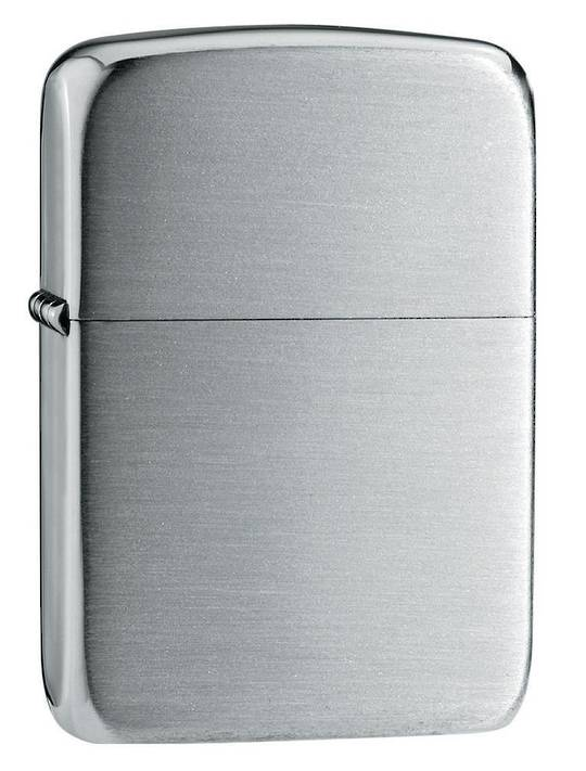 Zippo Hand Satin Sterling Silver 1941 Replica Lighter  - 24