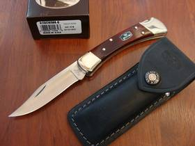 Buck 110 Chairman Signature Cherry wood Folding Knife