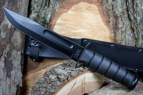 Ka-Bar Black Fighting Knife - Leather Sheath