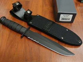 Ka-Bar Black Fighting Combo Edge Knife