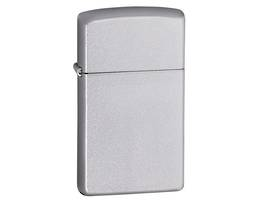 Zippo Slim Satin Chrome Lighter - 1605