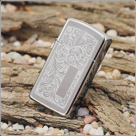 Zippo Slim Venetian Chrome Lighter