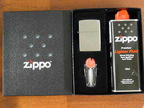 Zippo Street Chrome Lighter Gift set