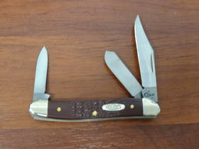 CASE CUTLERY Brown Synthetic Stockman 3 Blade Pocket Knife - 217