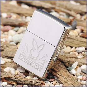 Zippo Playboy High Polish Chrome Stars Lighter $30 with Purchase over $150