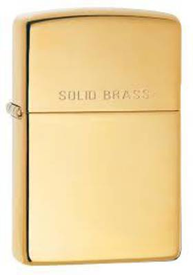Zippo High Polish Solid Brass Lighter - 254