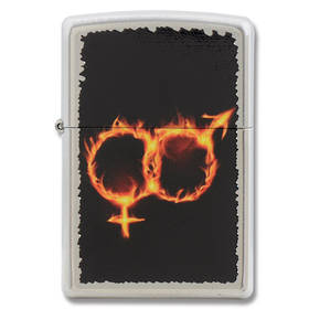 ==FREE FUEL==Zippo Man Woman Fire, Street Chrome Lighter