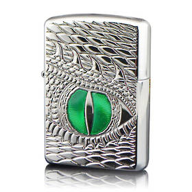 Zippo Dragon Eye Armor High Polish Chrome Lighter