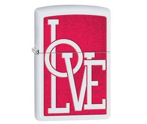 Zippo Love White Matte Lighter