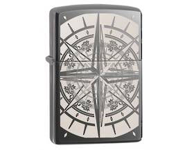 Zippo Engraved Compass - Black Ice Lighter