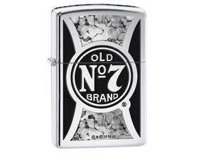 Zippo Jack Daniels, Fusion - High Polish Chrome Lighter