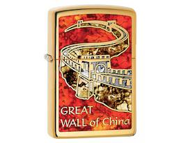 Zippo Great Wall of China, Fusion - High Polish Brass Lighter