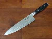 RAN PLUS Japanese  Damascus Chef's Knife Ground Hollow 200mm