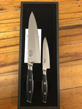 Tsuchimon Damascus VG-10 2 Pce Set - 3 Layers