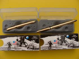2x Fisher Space pen Lacquered Brass Bullet