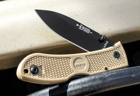Ka-Bar Dozier Folding Hunter Folding Knife Coyote Brown