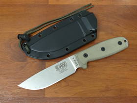 ESEE 4P-MB-SS Stainless Steel Stonewash Survival Knife