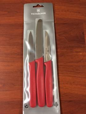 Victorinox Paring Knives Set of 3 - Red