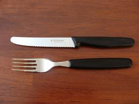 Victorinox Table Fork Steak Set Black