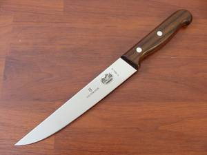 Victorinox Carving Knife 18cm Rosewood Narrow Wavy edge