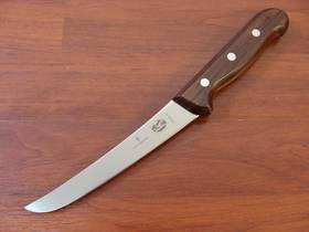 Victorinox Boning Curved Knife 15cm Rosewood Handle