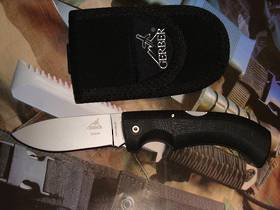 Gerber Gator 154cm drop point fine edge knife