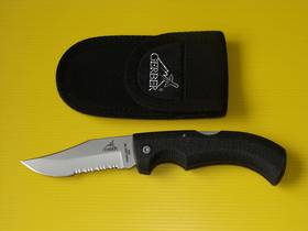 Gerber Gator Clip Point Serrated Edge folding Knife - 6079 no box