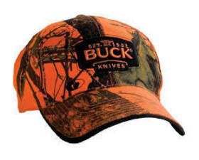 Buck Mossy Oak Blaze Orange Camo Logo Cap