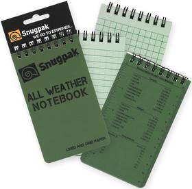 "All Weather Notebook Notebook 3"" x 5"" Green"