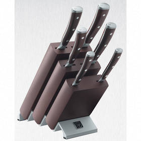 Wusthof Classic Ikon 7 Piece Knife Block Set Beechwood Choco  - 9866