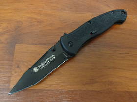 Smith & Wesson Large Specops W/blk Tanto A/O Aluminum Folding Knife - BSPECL no box